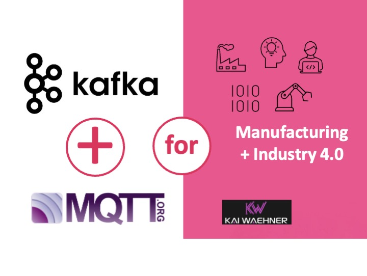 MQTT and Kafka for Manufacturing, Industrial IoT, and Industry 4.0